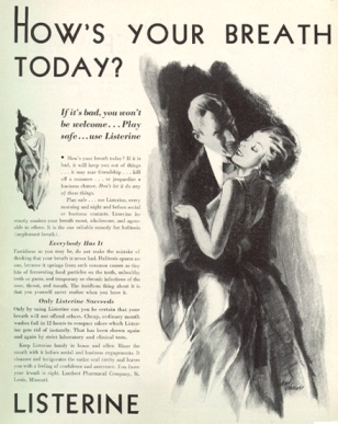 listerine ad %22how's you breath today-%22